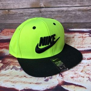 Nike SnapBack The Color is Volt & Black 4-7 years